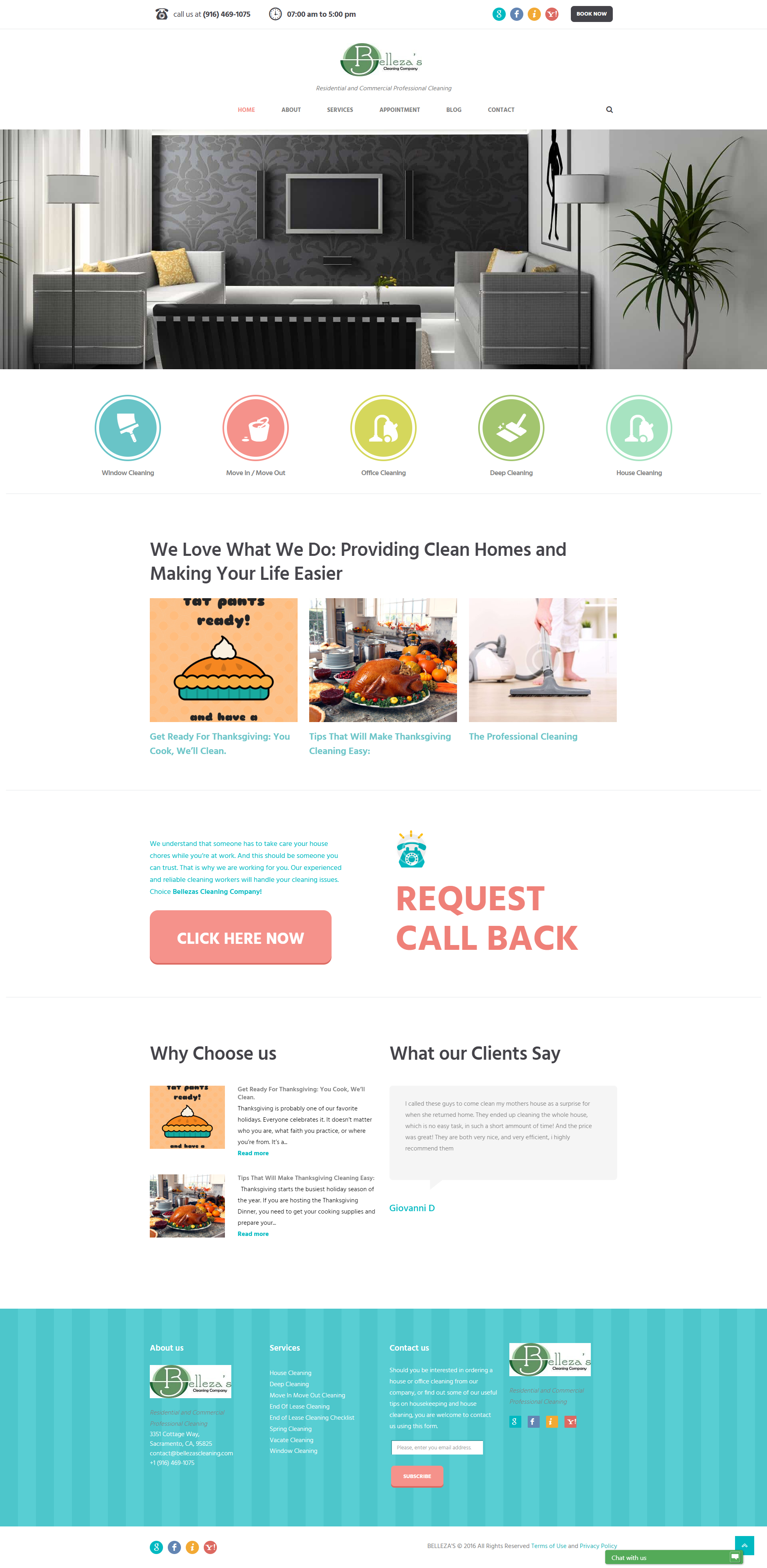 The Home Cleaning Company - Web Development Services