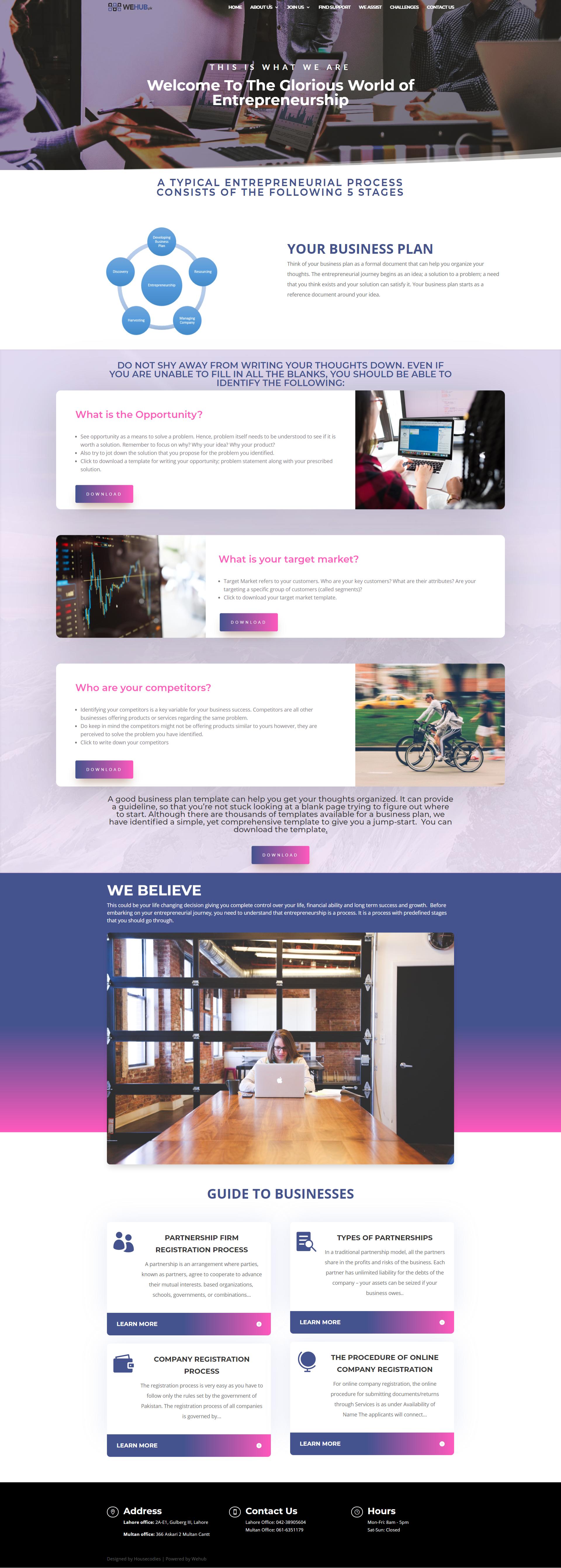 Wehub - UI UX Design - Visual Branding Project