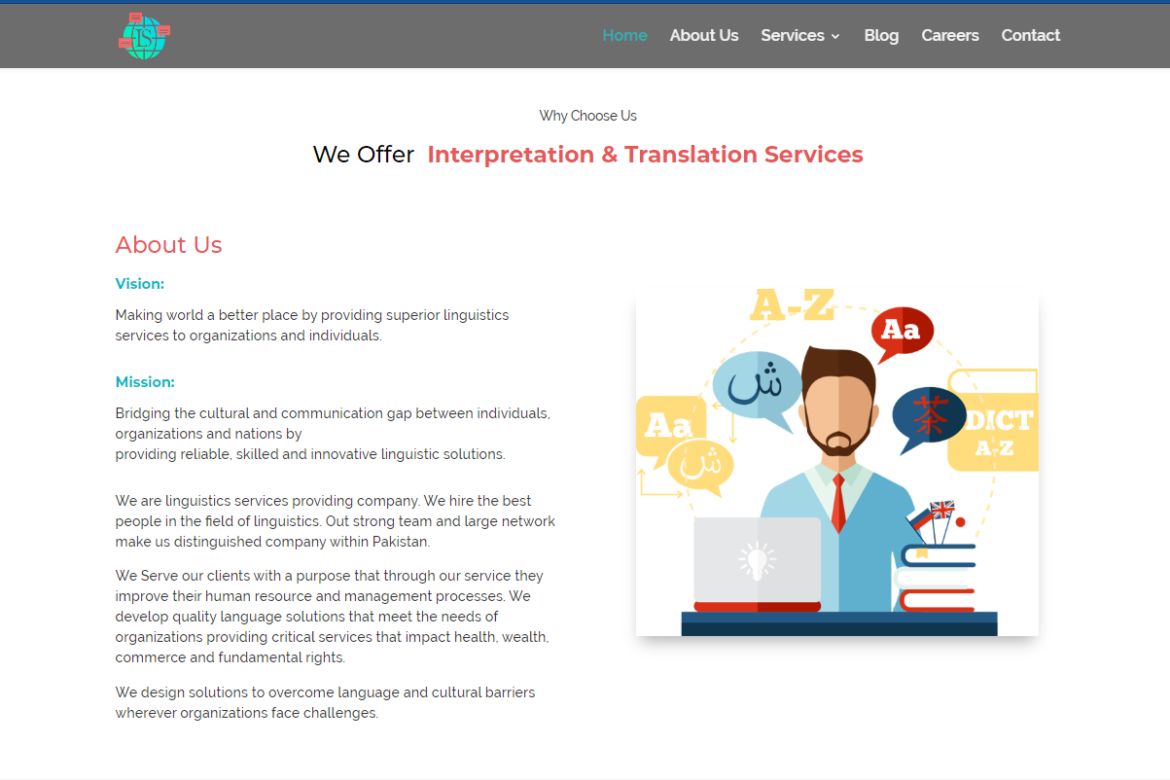 Language transation and Interpretation Web Development - Multi Language Web Solution Provider